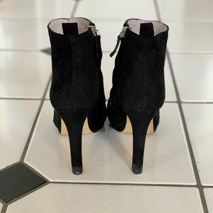 Zara Shoes - Zara Suede High Heel Black Ankle Boots